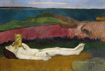 Artworks by 350 Famous Artists Painting - The Loss of Virginity Paul Gauguin