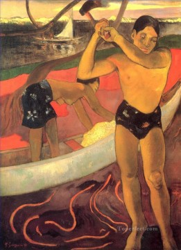 Artworks by 350 Famous Artists Painting - The man with the axe Paul Gauguin