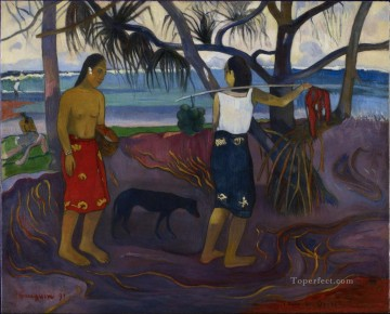 Under the Pandanus II Paul Gauguin Oil Paintings