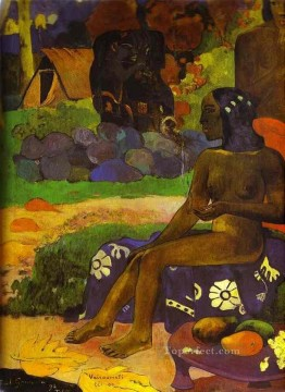 Artworks by 350 Famous Artists Painting - Vaïraumati tei oa Her Name is Vairaumati Post Impressionism Primitivism Paul Gauguin