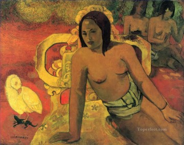 Vairumati Post Impressionism Primitivism Paul Gauguin Oil Paintings