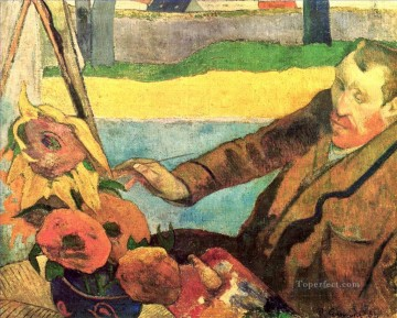 painting Oil Painting - Van Gogh Painting Sunflowers Post Impressionism Primitivism Paul Gauguin