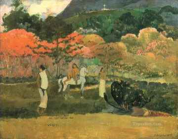 women Painting - Women and mold Paul Gauguin