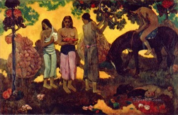 Wonderful Land Gathering Fruit Paul Gauguin Oil Paintings