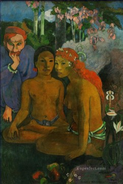Tales Oil Painting - Barbarous Tales Post Impressionism Primitivism Paul Gauguin