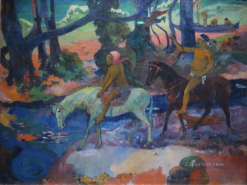 Ford Running Away Post Impressionism Primitivism Paul Gauguin Oil Paintings