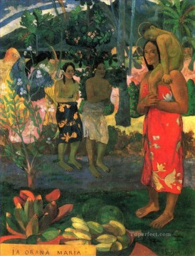 impressionism canvas - Ia Orana Maria Hail Mary Post Impressionism Primitivism Paul Gauguin