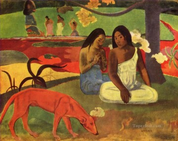 Paul Gauguin Painting - Joyeusete Arearea Post Impressionism Primitivism Paul Gauguin