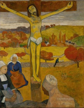 Paul Gauguin Painting - Le Christ jaune The Yellow Christ Post Impressionism Primitivism Paul Gauguin