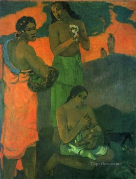 impressionism canvas - Motherhood Women on the Shore Post Impressionism Primitivism Paul Gauguin