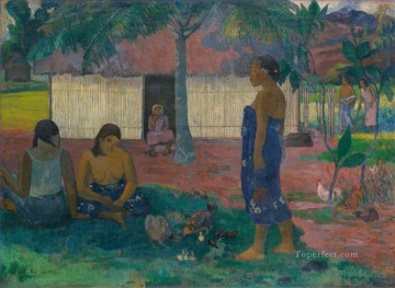 Paul Gauguin Painting - No te aha oe riri Why Are You Angry Post Impressionism Primitivism Paul Gauguin