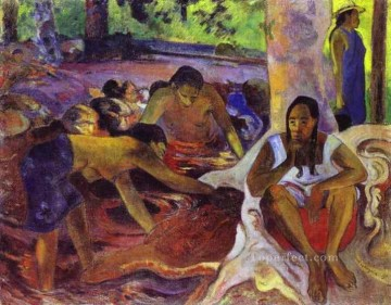 Paul Gauguin Painting - The Fisherwomen of Tahiti Post Impressionism Primitivism Paul Gauguin