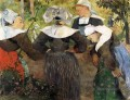 The Four Breton Girls c Post Impressionism Primitivism Paul Gauguin