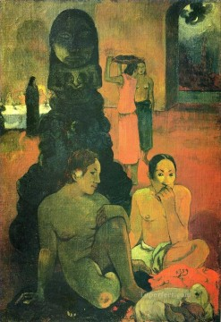 Paul Gauguin Painting - The Great Buddha Post Impressionism Primitivism Paul Gauguin