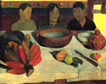Paul Gauguin Painting - The Meal The Bananas Post Impressionism Primitivism Paul Gauguin