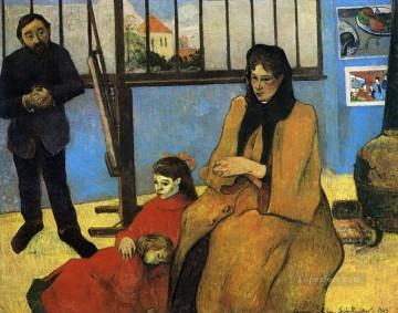 Family Painting - The Schuffenecker Family Post Impressionism Primitivism Paul Gauguin