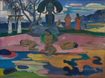 Mahana no atua Day of God c Post Impressionism Primitivism Paul Gauguin Oil Paintings