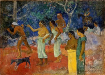 Paul Gauguin Painting - Scenes from Tahitian Life Post Impressionism Primitivism Paul Gauguin