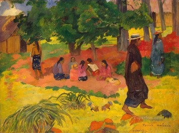 Paul Gauguin Painting - Taperaa Mahana Post Impressionism Primitivism Paul Gauguin