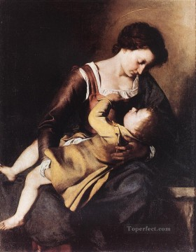 Don Art - Madonna Baroque painter Orazio Gentileschi