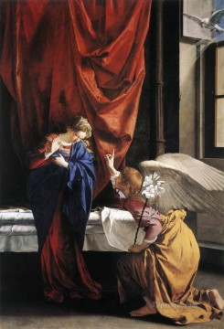 Orazio Gentileschi Painting - Annunciation Baroque painter Orazio Gentileschi