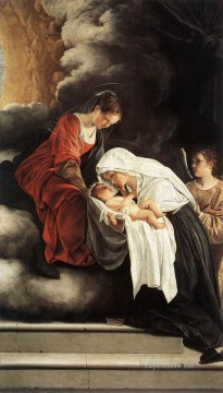 Francesca Painting - The Vision Of St Francesca Romana Baroque painter Orazio Gentileschi
