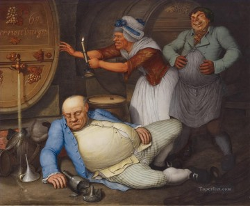Der Saufer 1804 Georg Emanuel Opiz caricature Oil Paintings