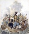 Scene from the War of independence depicting the Konstantinos Kanaris Georg Emanuel Opiz caricature