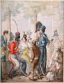 Cosaques a Paris pendant occupation des troupes alliees en 1814 Georg Emanuel Opiz caricature