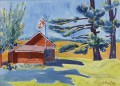 OLD SCHOOLHOUSE RYDERS George luks water color