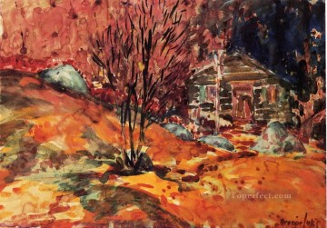 George Luks Painting - autumn landscape George luks