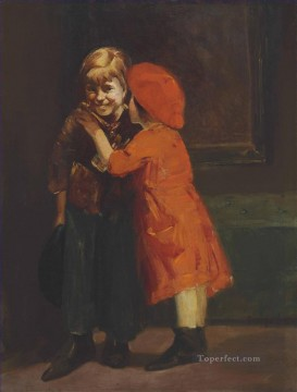 George Luks Painting - In the Corner George luks kids child
