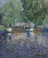 THE SWAN BOATS George luks scenery