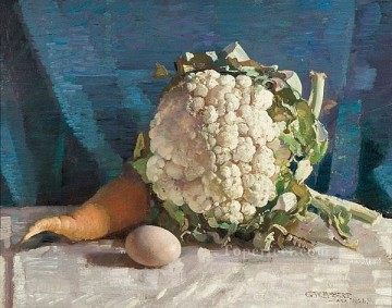 Egg and cauliflower still life George Washington Lambert Oil Paintings