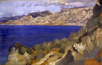 George Washington Lambert Painting - anzac from gaba tepe George Washington Lambert