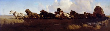 Across the Black Soil Plains George Washington Lambert Oil Paintings
