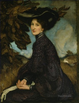 George Washington Lambert Painting - Miss Thea Proctor George Washington Lambert portraiture