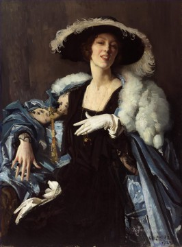 George Washington Lambert Painting - The white glove George Washington Lambert portraiture