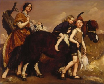 George Washington Lambert Painting - Holiday in Essex George Washington Lambert portraiture