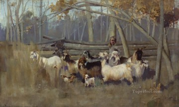 George Washington Lambert Painting - a bush idyll 1896 George Washington Lambert portraiture
