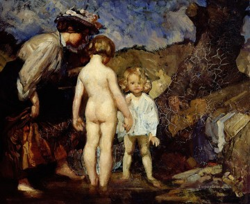 George Washington Lambert Painting - the pond 1908 George Washington Lambert portraiture
