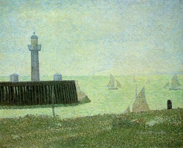 Georges Seurat Painting - end of the jetty honfleur 1886