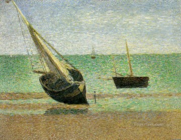 Georges Seurat Painting - low tide at grandcamp 1885