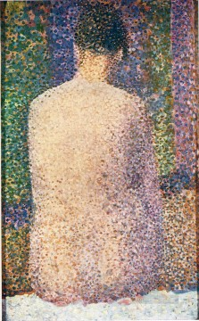 Georges Seurat Painting - model from the back 1886