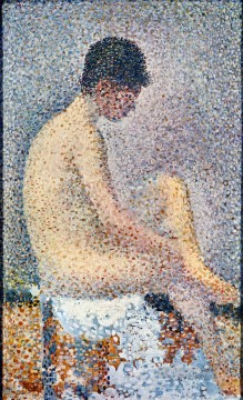 Georges Seurat Painting - model in profile 1886