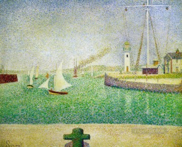 Georges Seurat Painting - port of honfleur 1886
