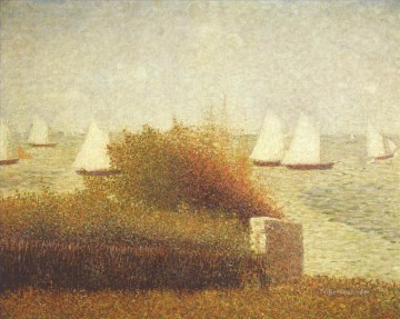 Georges Seurat Painting - race in grandcamp 1885
