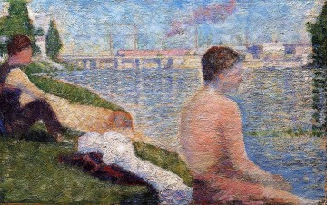 Georges Seurat Painting - seated bather 1883