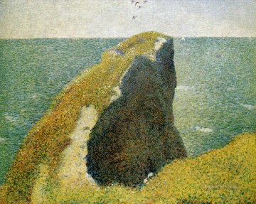 Georges Seurat Painting - the bec du hoc grandcamp 1885