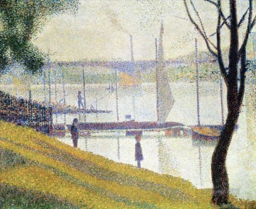 Georges Seurat Painting - the bridge at courbevoie 1887